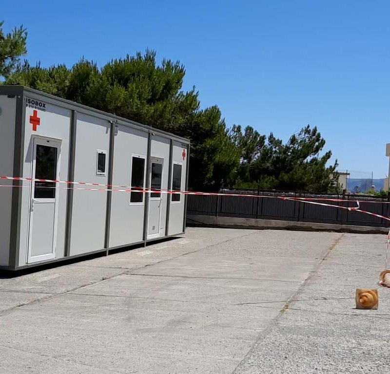 Δωρεά στο Νοσοκομείο Σητείας οικίσκου πρώτης υποδοχής ασθενών με Covid-19