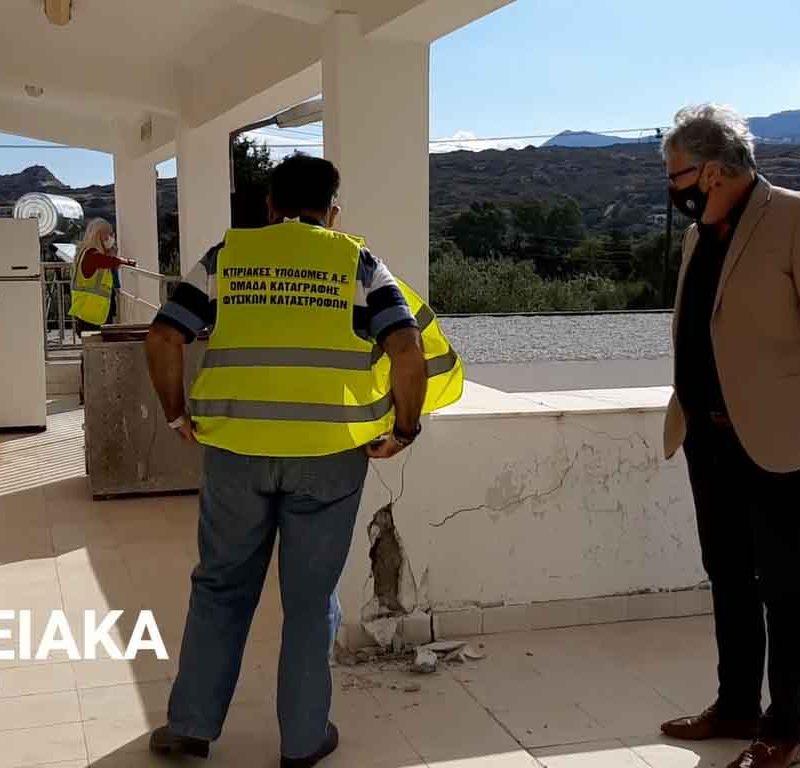 Ξεκίνησε η καταγραφή των ζημιών στον Δήμο Σητείας σε δημόσια και ιδιωτικά κτίρια